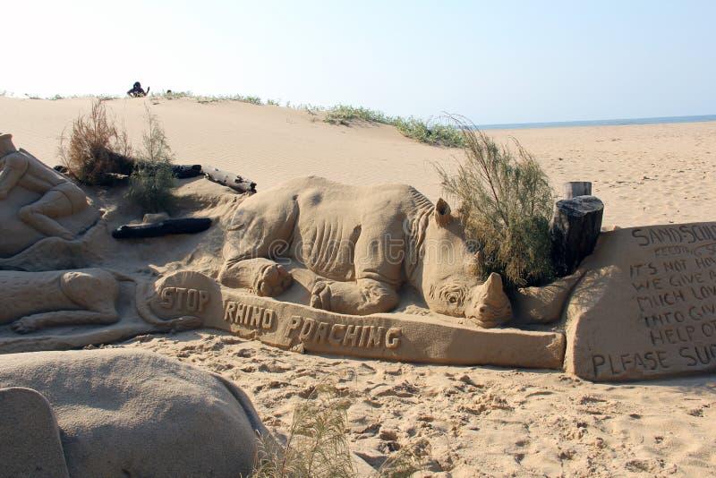 Sandkunst stockfoto