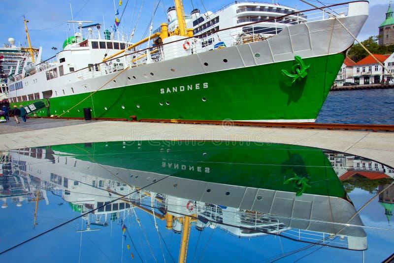 Sandnes i skeppsdocka på Stavanger arkivfoton