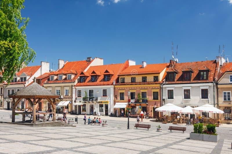 Sandomierz è conosciuto per il suo Città Vecchia, che è un'attrazione turistica importante 23 MAGGIO 2014 Sandomierz, immagini stock