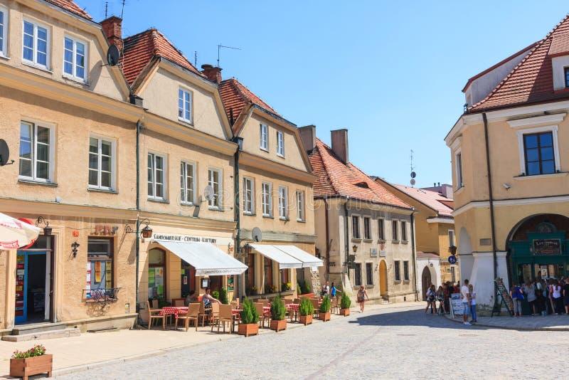 Sandomierz, alte Stadt lizenzfreie stockfotografie