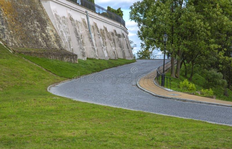 sandomierz nedanför slottområdet, arkivfoto