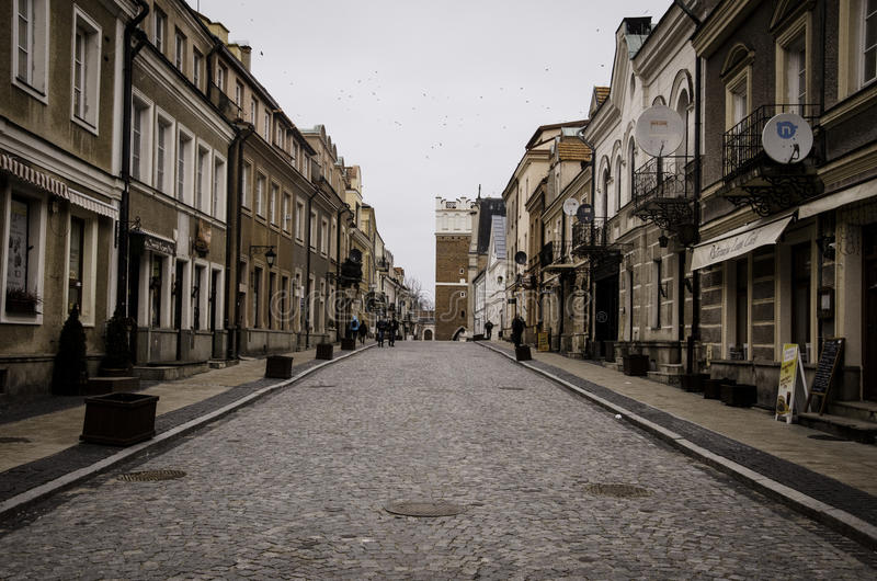 Sandomierz, Polen, eine alte Stadt stockbild