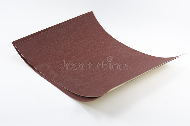 Sandpaper isolated on white background.Equipment for craftsman and tool of carpentry. 1 royalty free stock photos