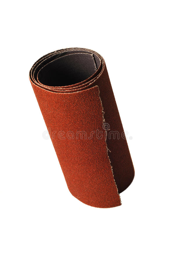 Sandpaper roll royalty free stock images