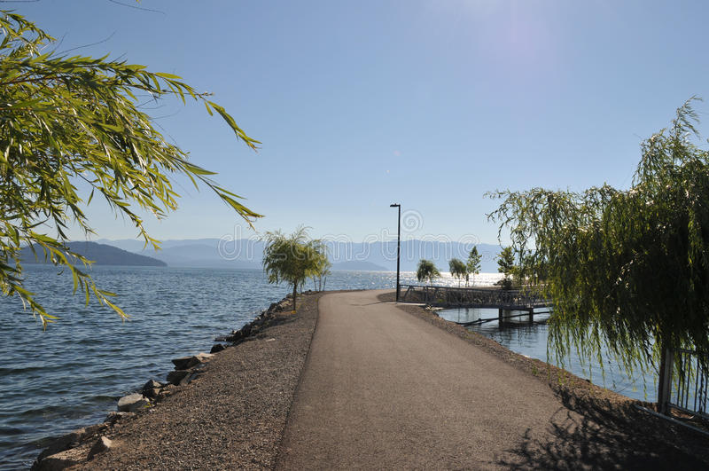 Sandpoint Idaho, sjö Pend Oreille fotografering för bildbyråer
