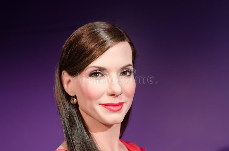 Sandra bullock wax figure stock photo