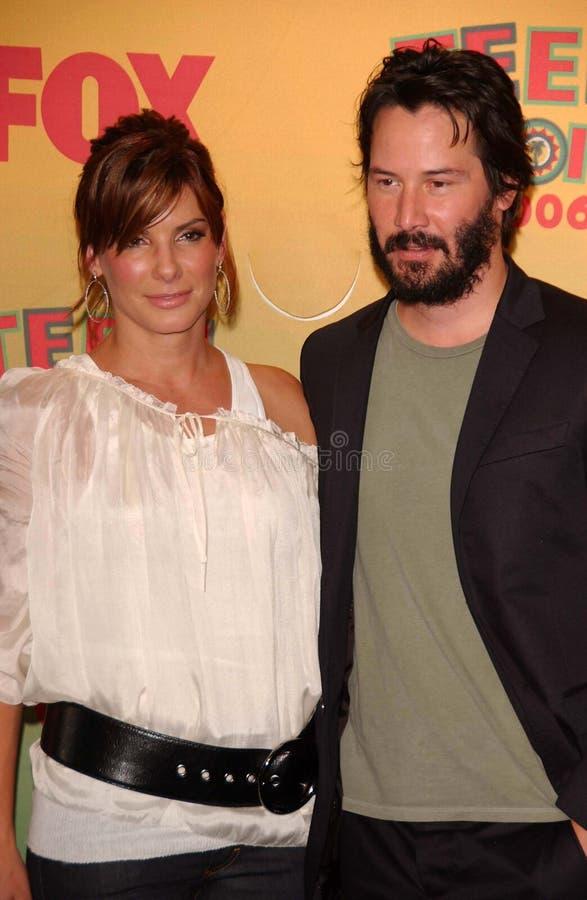 Keanu Reeves, Sandra Bullock fotografía de archivo libre de regalías