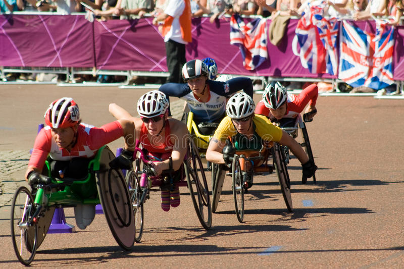 Download Sandra Graf (SUI) Leading The 2012 Marathon Editorial Photography - Image: 26549152