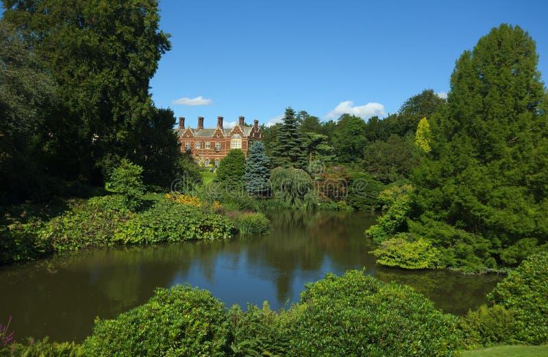 Sandringham dom i ziemie królowej ` s kraju odwrót zdjęcie royalty free