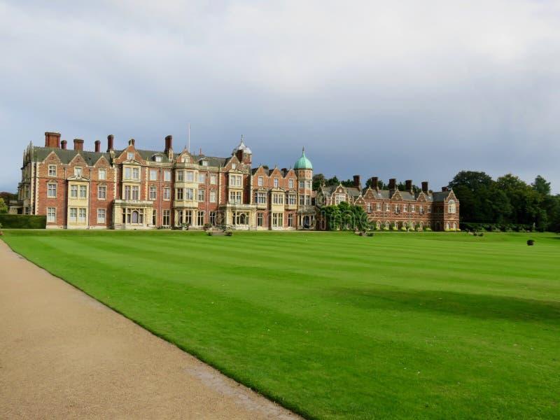 Sandringham hus i Norfolk, England royaltyfri bild