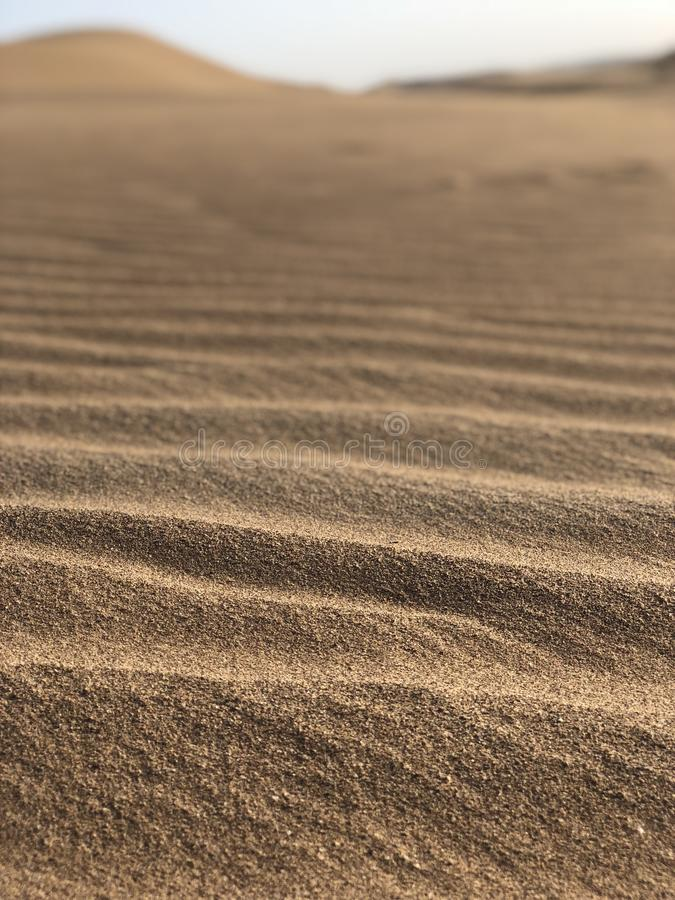 Sands. In the dasert stock image