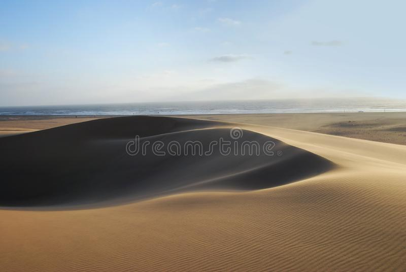 Sands and the Ocean royalty free stock image