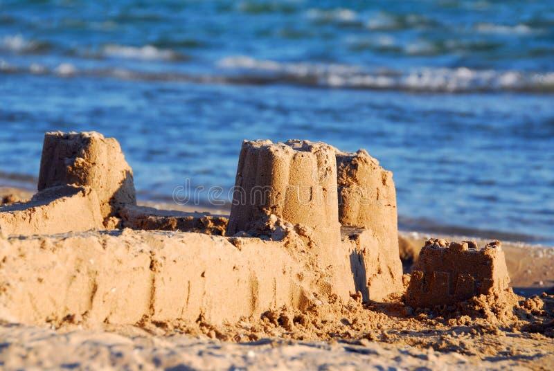 Sandschloß stockfoto