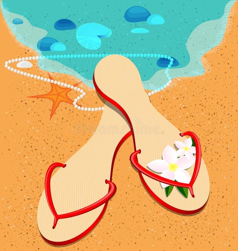 sandshoes иллюстрация вектора