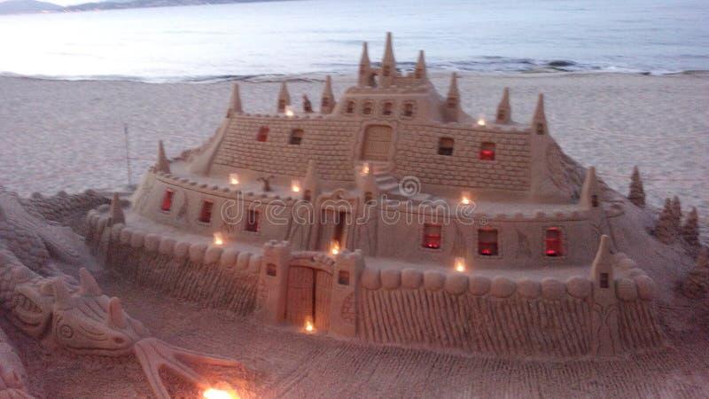 Sandskulptur stockfotos