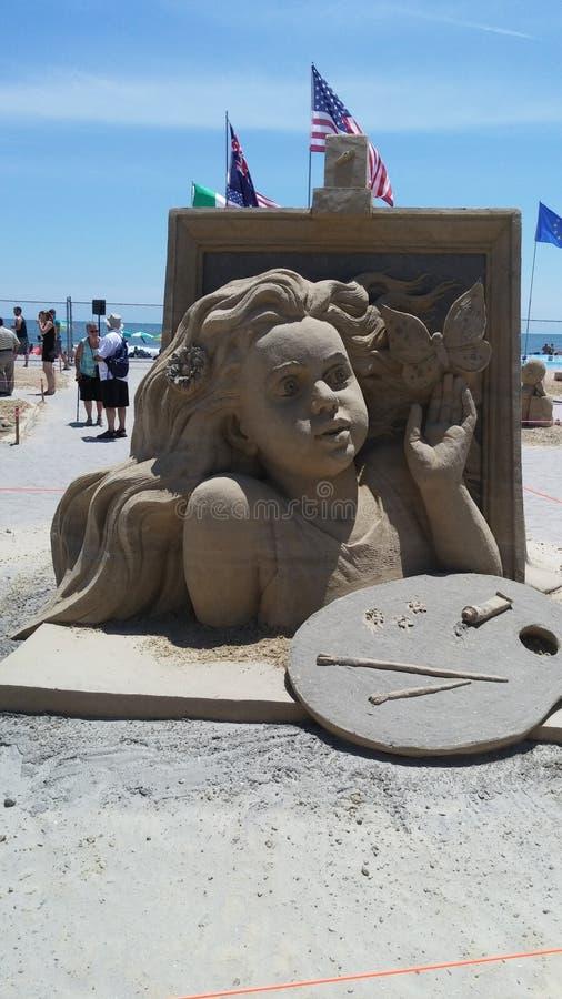 Sandskulptur lizenzfreie stockfotografie
