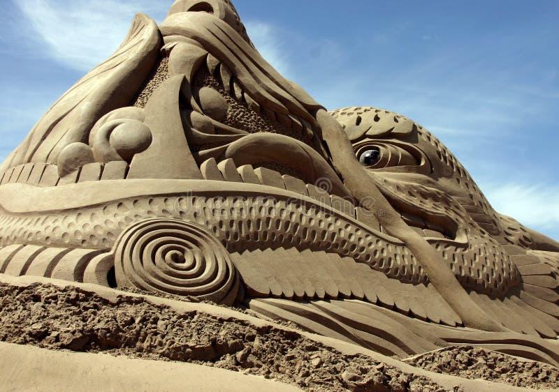 Sandskulptur stockbild