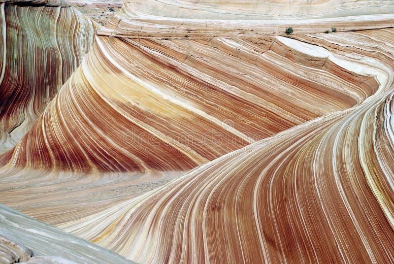 Sandstein, acantilados bermellones, la onda, Arizona fotos de archivo libres de regalías
