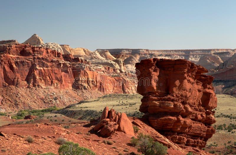 Sandstein-Anordnungen, Hauptriff-Nationalpark lizenzfreie stockfotografie