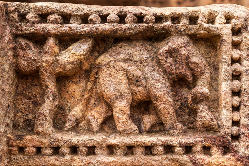 Sandstein-Elefant lizenzfreie stockfotos