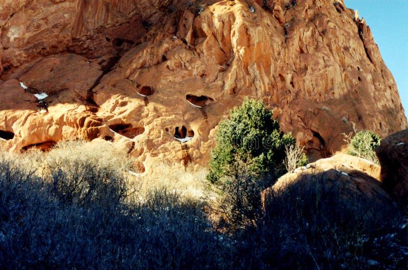 Sandsteinanordnungen stockfotografie