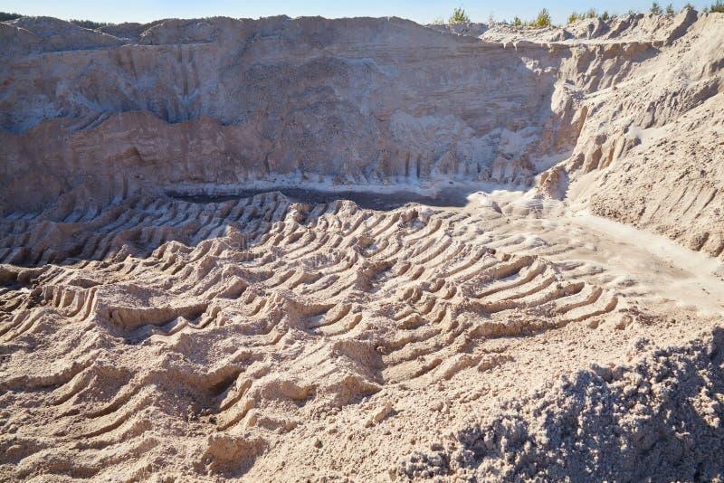 Sandsteinbruch, Sanddünen Reiner Seesand lizenzfreies stockfoto