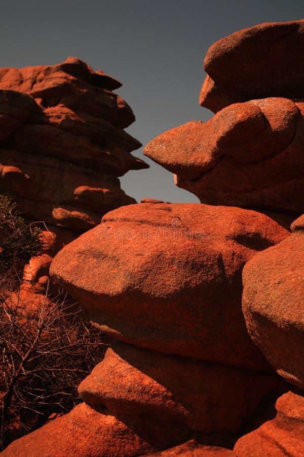 Sandsteinfelsen lizenzfreie stockfotografie