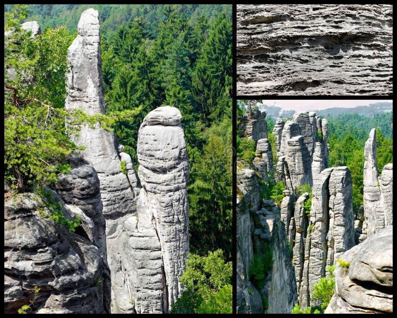 Sandsteinfelsen in der Tschechischen Republik. lizenzfreie stockfotos