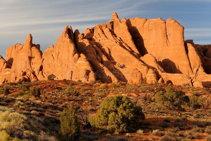 Sandsteinflossen stockfoto