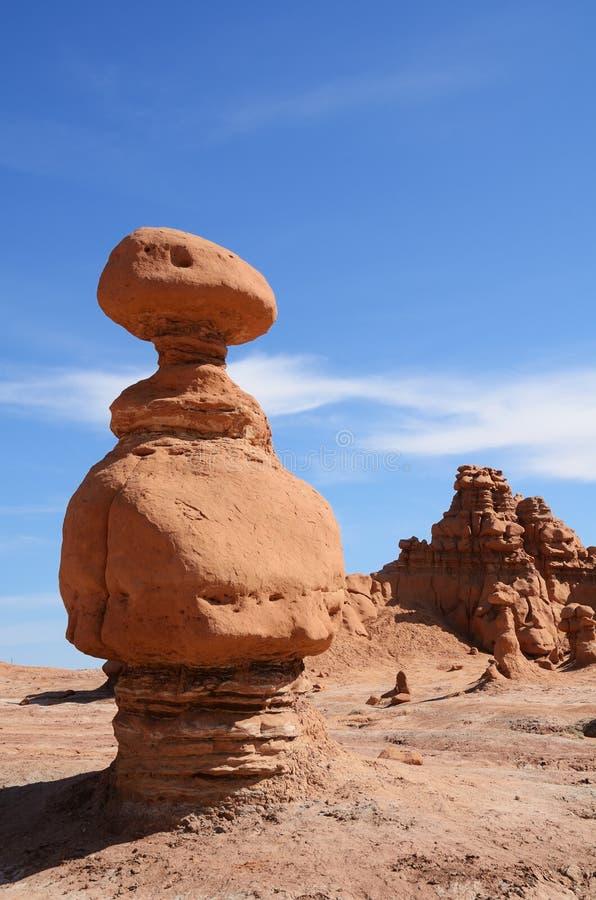 Sandsten vaggar bildande (olycksbringare) i elakt trolldalen royaltyfri bild