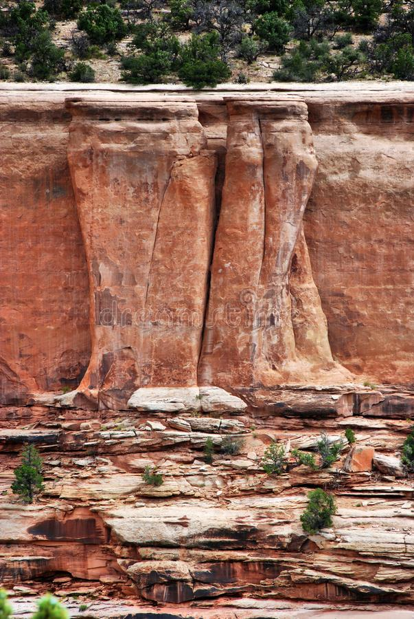 Sandstenbildande i Colorado den nationella monumentet fotografering för bildbyråer