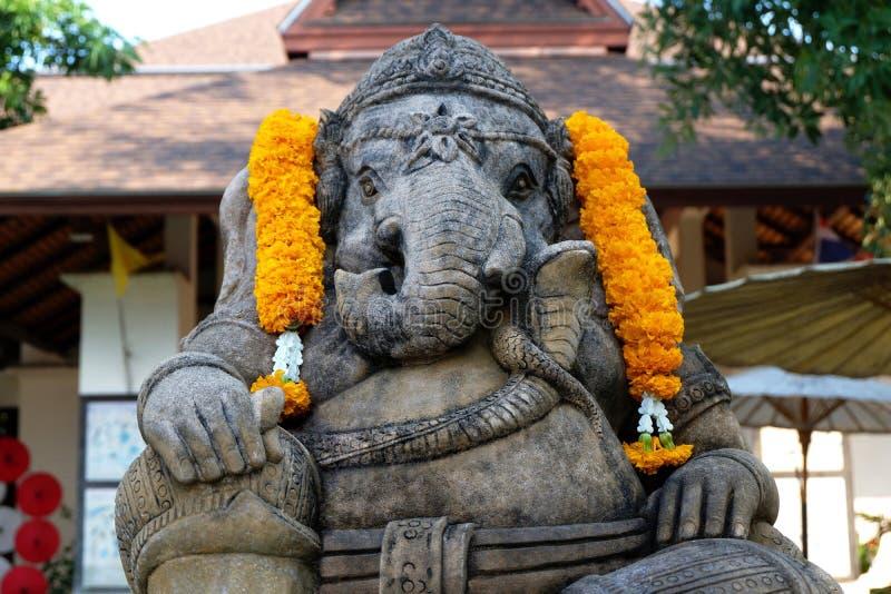 Sandstenstaty av Lord Ganesha royaltyfri fotografi