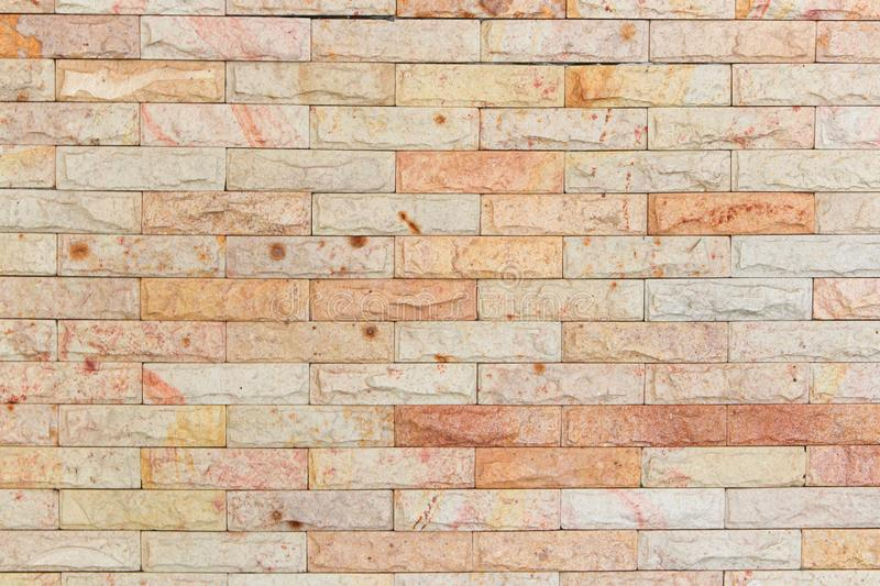 Sandstone brick wall texture, Stone background pattern stock image