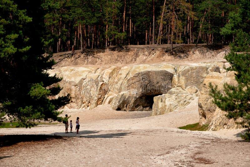 Sandstone caves in Blankenburg Harz Germany stock photography