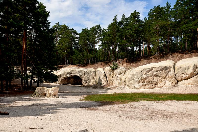 Sandstone caves in Blankenburg Harz Germany royalty free stock photos