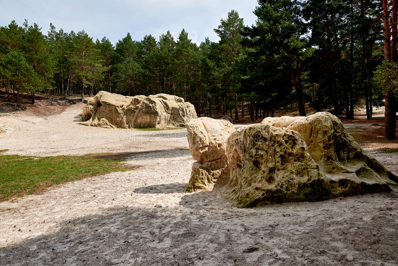 Sandstone caves in Blankenburg Harz Germany royalty free stock photography