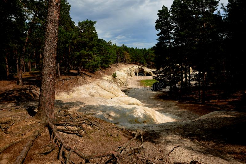 Sandstone caves in Blankenburg Harz Germany royalty free stock images