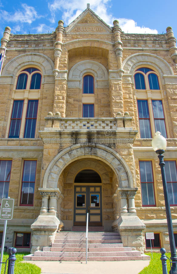 Sandstone courthouse stock photography
