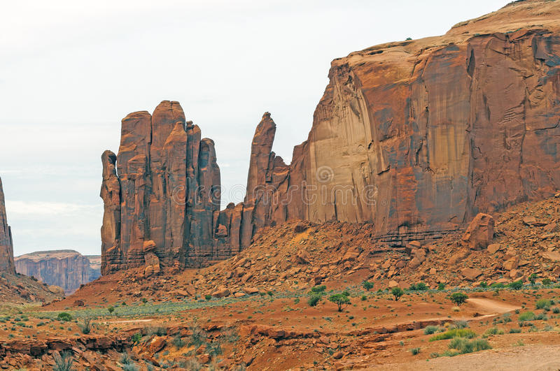 Sandstone Formations against the sky royalty free stock images