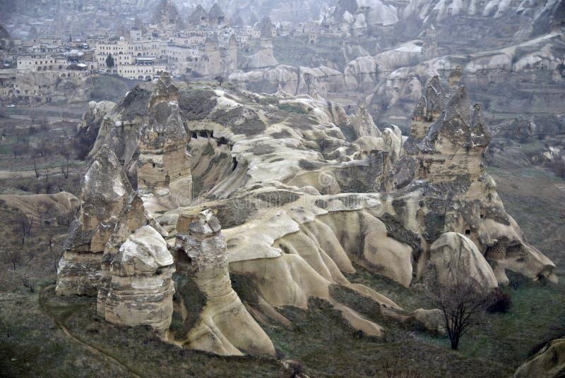 Sandstone formations in Cappadocia. royalty free stock photos
