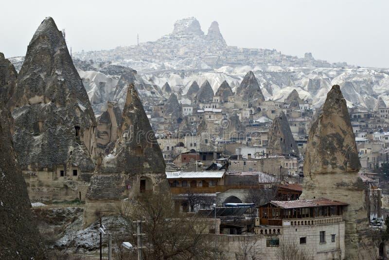 Sandstone formations in Cappadocia, Turkey. stock photos