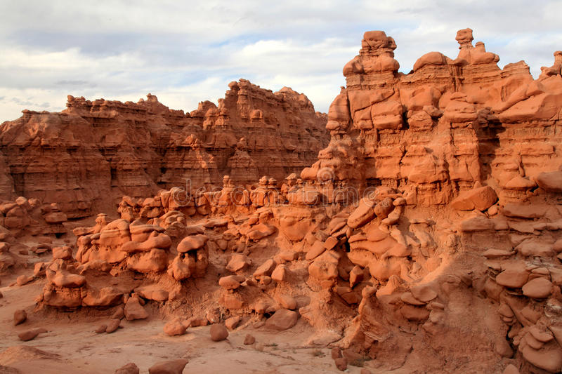 Sandstone formations, goblin valley state park stock photo