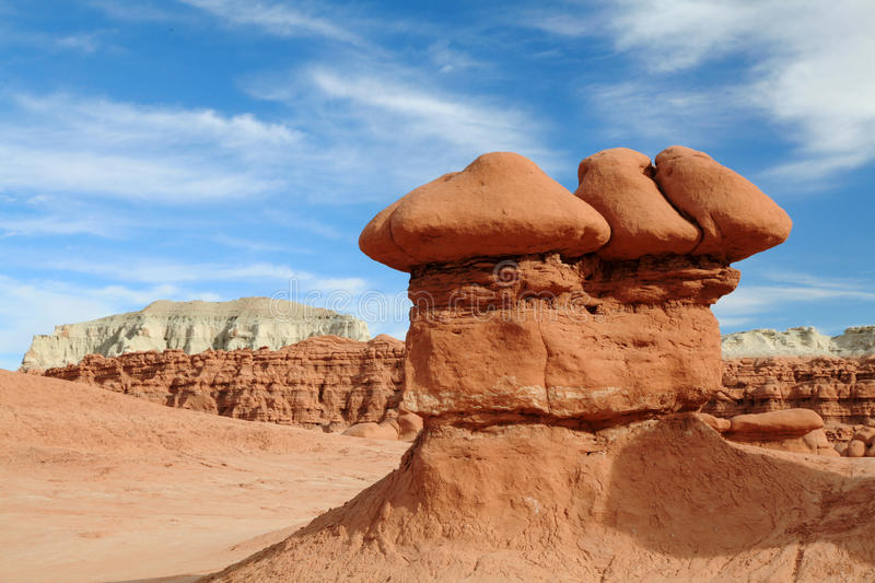 Sandstone formations, goblin valley state park stock images