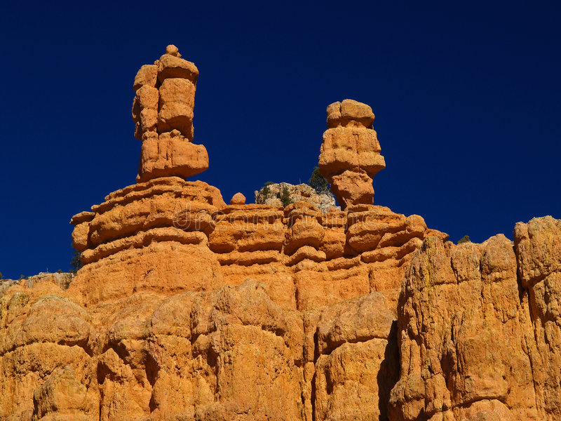 Sandstone formations in Red Canyon stock photography