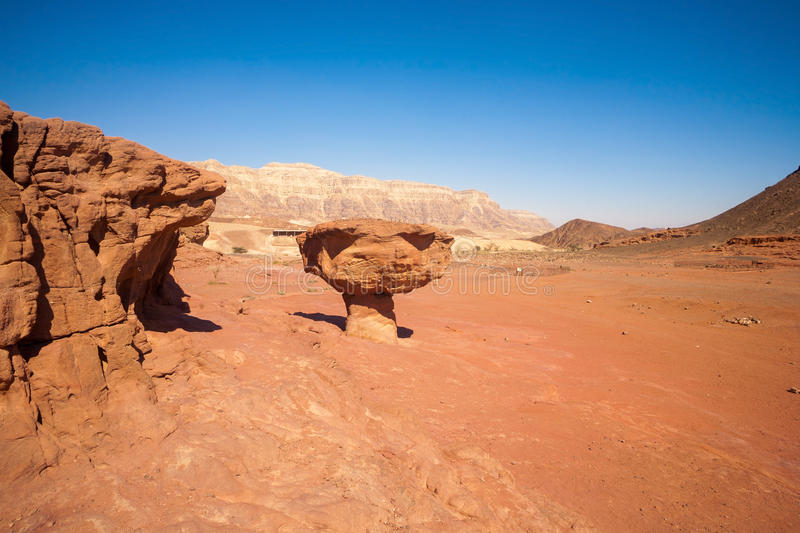Sandstone formations in Timna Park, Israel royalty free stock photo
