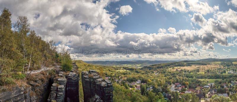 Sandstone Mountains The Tisa Rocks, Tisa Walls, Czech republic. Landscape with rocks in Sandstone Mountains The Tisa Rocks, Tisa Walls Tiske steny, Tyssaer Wä stock images