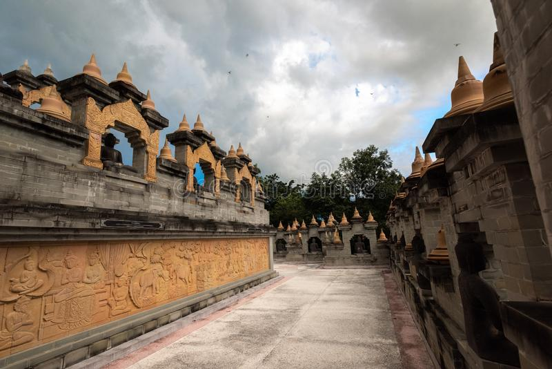 Buddhist Temple : Sandstone Pagoda in Pa Kung Temple at Roi Et of Thailand. Sandstone Pagoda in Pa Kung Temple at Roi Et of Thailand,Buddhist Temple stock images
