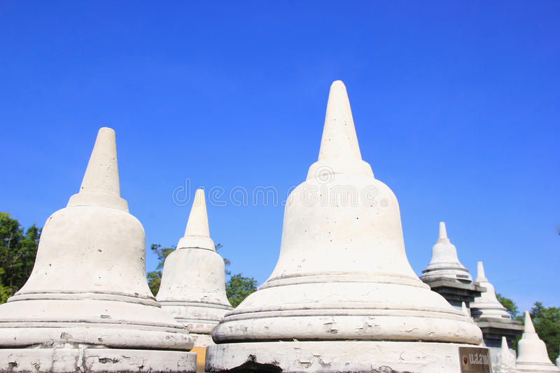 Sandstone Pagoda in Pa Kung Temple at Roi Et of Thailand. There is a place for meditation. ROI ET, THAILAND - NOV04,2015: Sandstone Pagoda in Pa Kung Temple at stock images