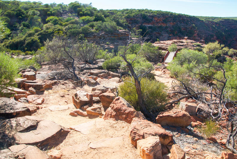 Sandstone Path to Z-Bend Lookout royalty free stock photos