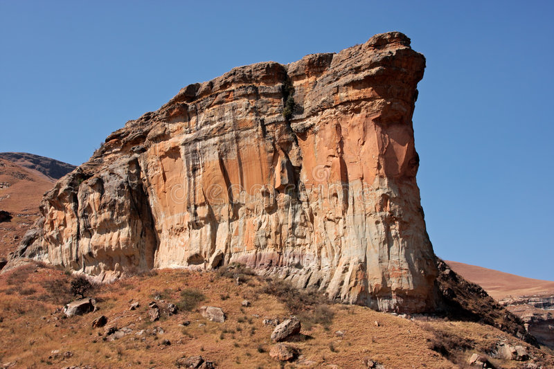 Sandstone rock royalty free stock photo